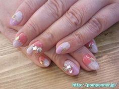 ツイードとパステルカラーのセパレートネイル (Separate and pastel nail tweed)