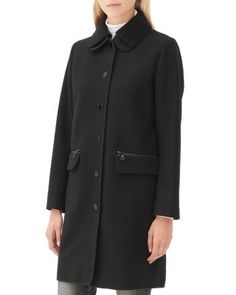 Sandro Mabel Ribbed Collar Coat | Bloomingdale's