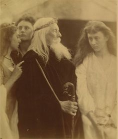 "Wed. February 5: ""while we Unburdened crawl toward death"" (Lear 1.1) #Leargram In this photo by noted Victorian-era photographer Julia Margaret Cameron, King Lear apportions his kingdom. http://theatrenewaudience.tumblr.com/"