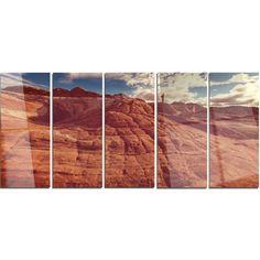 DesignArt 'Vermilion Cliffs at Sunrise' 5 Piece Photographic Print on Canvas Set