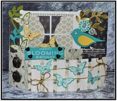 Stampin' Up! Ange's Treasures: Crazy Crafters October Blog Hop-Bendi Fold Card - All details and links to tutorials are on my blog.