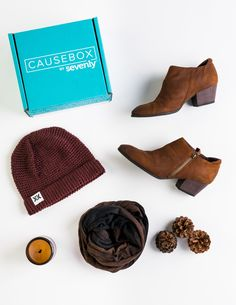 The @krochetkids beanie from #CAUSEBOX04 is perfectly for any Fall outfit! :)