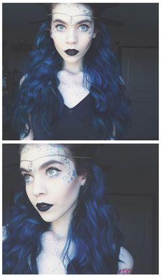 Anastasjia Louise, night sky costume makeup Tumblr: anastasjia