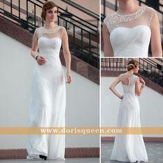 DORISQUEEN wholesale Lace Floor Length Sexy White semi formal dress 30626 White  Semi Formal Dress 9a854dd07