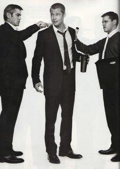 The fellas of Ocean's Eleven: George Clooney, Brad Pitt, Matt Damon