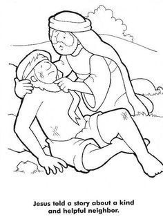 Good Samaritan Story from Jesus Coloring Page