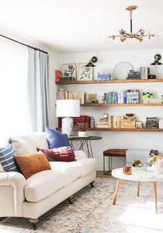 Living Room Giveaway with Overstock! - Juniper Home - lighten up the space -REVEAL: Living Room Giveaway with Overstock! - Juniper Home - lighten up the space - Best Cozy Farmhouse Living Room Lighting Lamps Decor Ideas Simple Living Room, Living Room Green, Cozy Living Rooms, New Living Room, Home Living, Living Room Decor, Small Apartment Living, Dining Room, Stairs In Living Room