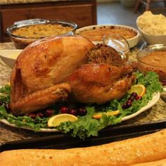 Homestyle Turkey, the Michigander Way - Seriously the best turkey of my life. I made it in a dutch oven instead of roasting pan. Holiday Recipes, Great Recipes, Dinner Recipes, Favorite Recipes, Dinner Dishes, Holiday Treats, Yummy Recipes, Yummy Food, Healthy Recipes
