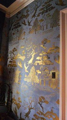 22 KT gold gilt and hand painted casein, Matt Austin