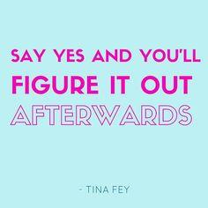 Tina Fey bur it could really have bern me #diveinheadfirst #freelance #copywriter #ondernemendemadammen #socialmediachallenge