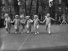 This is like the 1930s equivalent of dressing up with your friends as the Spice Girls to go trick-or-treating.
