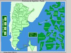 Provincias de Argentina. Puzzle