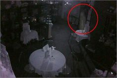 """Chills went down Dan Clifford's spine when he checked his CCTV and saw what he's convinced was a ghostly apparition hovering over a table set for two. He summoned a team of ghost specialists, who said the sighting – said to be a figure of a woman – was the most striking evidence they had come across in almost 10 years. Dan, 35, said yesterday: """"The first time I saw the shadow moving on the camera my heart went nuts. I thought there was an intruder in the shop. """"But when I looked closer I real..."""