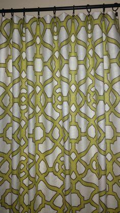 Geometric Curtains Trellis Curtains Fret Curtains by TrendyNest