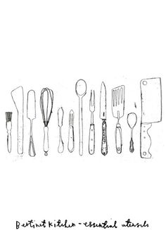 Essential Utensils; by Charlotte Farmer