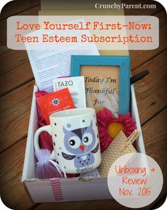 Love Yourself First-Now Teen Self-Esteem Subscription Box Unboxing & Review: November 2015: Crunchy Parent  Use code CRUNCHY for 10% off purchase.
