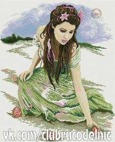 #Woman in green dress  #Roses  #1