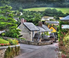 Branscombe village social life centres around its pubs. Devon, England.