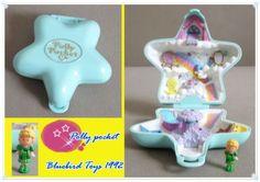 Polly-Pocket-Bluebird-Toys-1992-Mini-Etoile-bleue-Fun-Star-1-personnage
