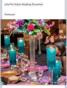 Peacock Wedding, Purple Wedding, Wedding Colors, Wedding Flowers, Leopard Wedding, Wedding Bouquets, Teal Wedding Decorations, Table Decorations, Indian Wedding Centerpieces