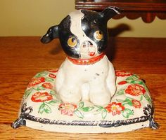 FIDO antique cast iron dog door stop from sydowsantiques on Ruby Lane Antique Iron, Vintage Iron, Antique Toys, Vintage Items, Dog Door Stop, Wings Etc, Victorian Door, Animal Projects, Iron Doors