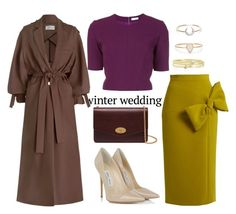 """Winter Wedding"" by missrose94 ❤ liked on Polyvore featuring Mulberry, Roksanda, Thierry Mugler, Jimmy Choo, I+I, Catbird, Jennifer Meyer Jewelry and Zimmermann"