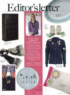 Michael Anguve - Luna Spoons in Easy Living - November 2011 Painted Plates, Wooden Chest, Natural Home Decor, Kitchen Linens, Simple Living, Spoons, Linen Bedding, Cold Weather, November