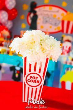 "Popcorn Bouquet from a ""Ready To Pop"" Baby Shower via Kara's Party Ideas | KarasPartyIdeas.com (14)"