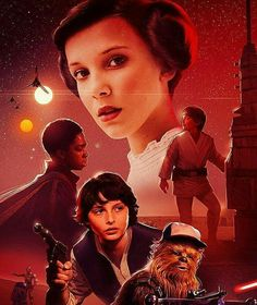 Millie would make a great young Lea because I genuinely thought this was a Star Wars fanart