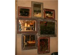 Rustic Collage of Mirrors