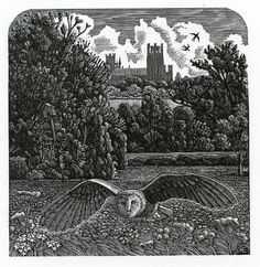 Andy English. The Old Owl House. (wood engraving)