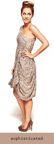 Sophisticated / Lauren Conrad really cant get over this dress