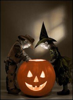 Little spooks, BIG pumpkin