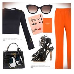 """""""Orange Choice"""" by firstboutique ❤ liked on Polyvore featuring 3.1 Phillip Lim, Sophia Webster, Thierry Lasry, Kate Spade, Smythson and orange"""