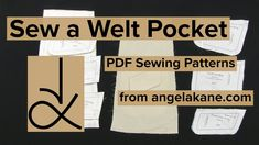 Sew the Welt Pocket with Flap Coat Pattern Sewing, Pdf Sewing Patterns, Welt Pocket, The Creator, Ebooks