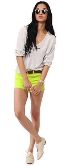 neon shorts!