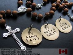 Godparents Gift. Add on Child Name to your Rosary. by BaptismGifts, $18.00