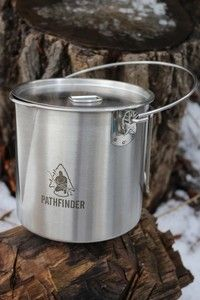 Pathfinder Bush Pot 64oz Camping Equipment, Rice Cooker, Bushcraft, Wood Crafts, Building A House, Kitchen Appliances, Cooking, Edc, Knives