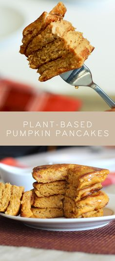 Our Greek Yogurt Alternative adds just the right amount of sweetness and moisture to help create the perfect plant-based Pumpkin Pancakes.