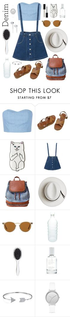 """love denim"" by beliinska ❤ liked on Polyvore featuring Julien David, MELLOW YELLOW, WithChic, OLIVIA MILLER, Calypso Private Label, Oliver Peoples, canvas, New Look, Splendid and Bling Jewelry"