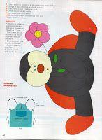 Moldes Para Artesanato em Tecido: Avental de joaninha Patchwork Country