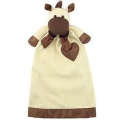 """Personalized Pix the Pony Lovie Security Blanket for Baby. This cozy lovie security blanket will be your child's first best friend. They are sure to love the huggable feeling of their custom embroidered Lovie. Lovies are made with the finest details--stitched noses, ultra thick and supple fleece, and petal soft satin. Lovies measure 24.5"""" long.   We can embroidery babys name & birthdate on heart.  $35.00  www.cradletokindergarten.com"""