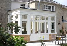 Burberry Harris Moon Orangery and conservatory gallery Orangery Extension Kitchen, Kitchen Orangery, House Extension Plans, House Extension Design, Garden Room Extensions, House Extensions, Kitchen Extensions, Orangery Roof, Contemporary Garden Rooms