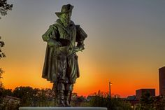 Captain Christopher Newport Statue at the entrance to Christopher Newport University - by JerryGammon, via Flickr