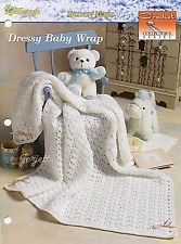 Dressy Baby Wrap ~ V-Stitch & Shells Baby Afghan, Crochet Collector's pattern