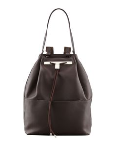 MINIMALIST: there's a difference between like and love... and we love this minimalist The Row backpack.