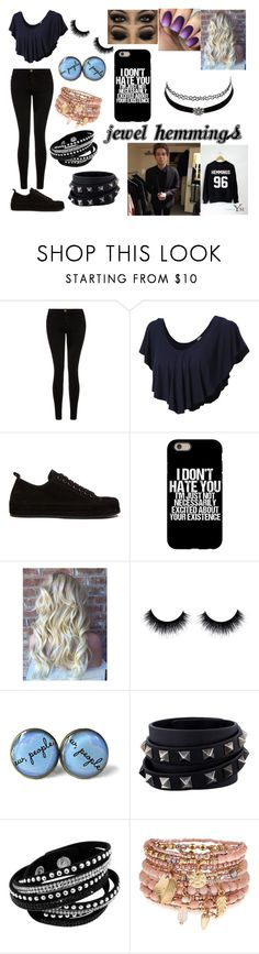 """""""Luke Hemming's Daughter"""" by terrymakenzie on Polyvore featuring Current/Elliott, LE3NO, Ann Demeulemeester, Charlotte Russe, Valentino and Accessorize"""