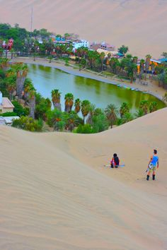 Peru, Huacachina So you may have tried sandboading in Huacachina, Peru but what about SAND - SKIING?So you may have tried sandboading in Huacachina, Peru but what about SAND - SKIING? Places Around The World, Oh The Places You'll Go, Travel Around The World, Places To Travel, Places To Visit, Around The Worlds, Machu Picchu, Bolivia, Huacachina Peru