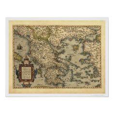 Woodmounted New Jersey Shipwreck Chart-Great Nautical Art Print Map