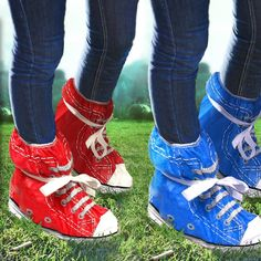 Festival Shoe Covers now featured on Fab. Festival Wear, Festival Outfits, Festival Essentials, Converse Chuck Taylor, Rubber Rain Boots, High Top Sneakers, Boho, Retro, Cute